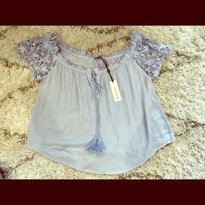 Heartloom blue top small